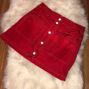 Red high waisted mini skirt💖